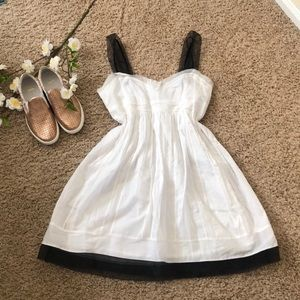LOFT dress! NWT!!! White with black details!